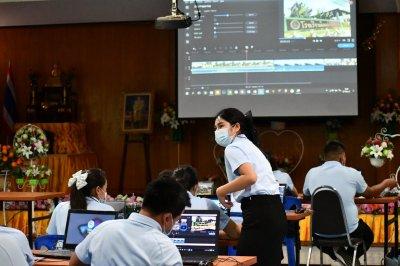อบรมเชิงปฏิบัติการการสร้างสื่อการเรียนการสอน โดยโปรแกรมตัตต่อ VDO