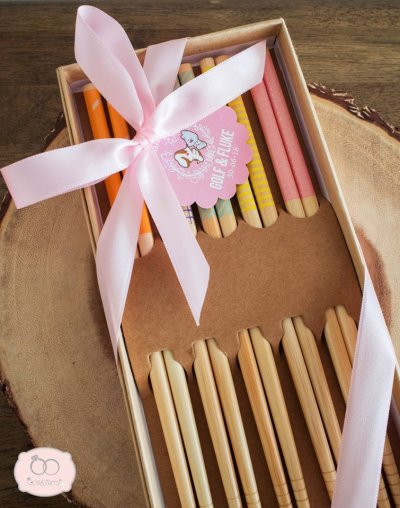 Wooden chopstick family set(5 pairs)