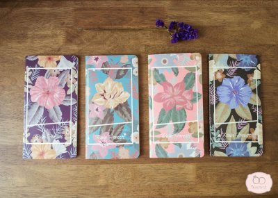 Floral notebook - สมุดโน๊ตลายดอกไม้
