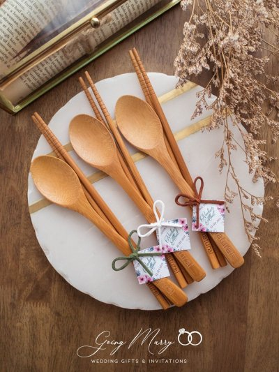 Wooden spoon and chopsticks