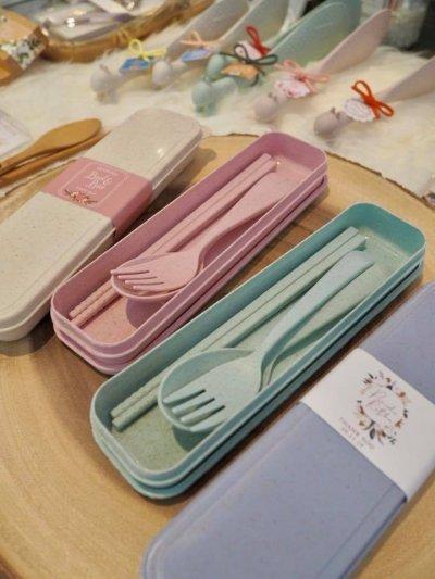 Wheat SET fork spoon and chopsticks
