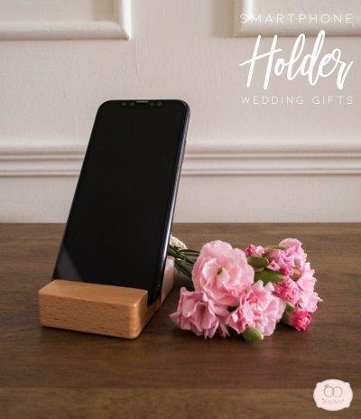 Wooden smart phone holder