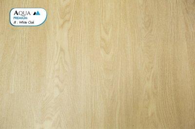 พื้นไม้ SPC ทนชื้น สี White Oak