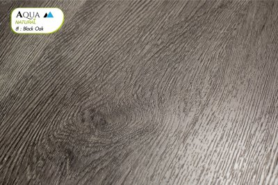 พื้นไม้ SPC ทนชื้น สี Black Oak