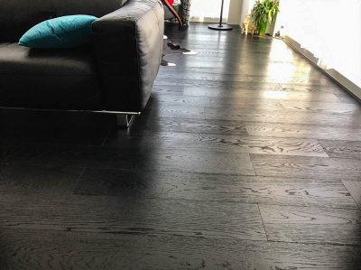 ไม้พื้นเอ็นจิเนียร์ สี Super Black