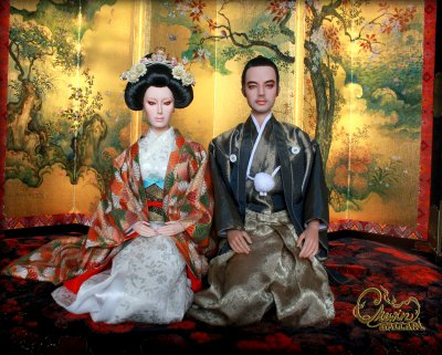 Japanese traditional costume for medium doll size