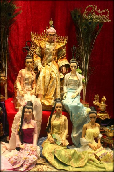 Burmese costumes before the doll exhibition