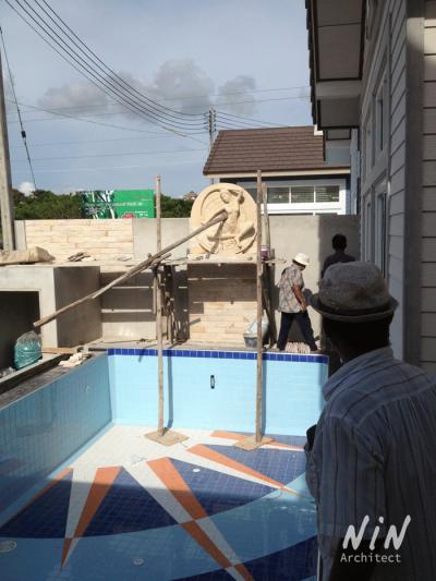 Pool villa American style : Pattaya