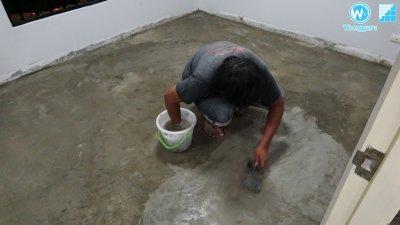 ปูพื้นกระเบื้องยางแบบแข็ง SPC ทดแทนพื้นไม้ลามิเนตที่ปลวกกิน พร้อมปรับพื้น