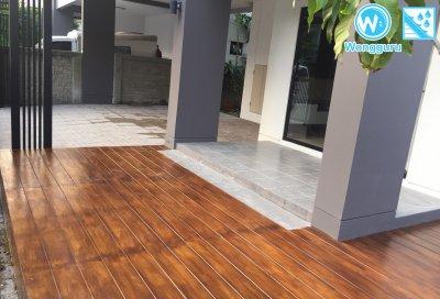 เมทัลชีท PU กับงานโรงจอดรถ และงานพื้นไม้เทียมทำสี