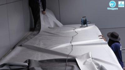 Waterproof membrane เมมเบรนกันซึมดาดฟ้า ชนิดพีวีซีเมมเบรน งานกันซึมระเบียงอาคาร