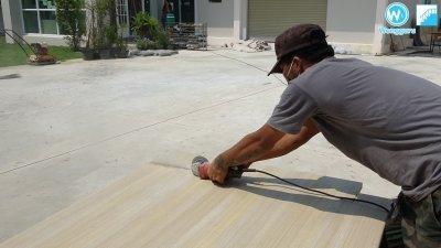 ติดตั้ง บันไดกันปลวก Wood Cement Board บนบันไดปูนที่ ไม่ได้ขนาด