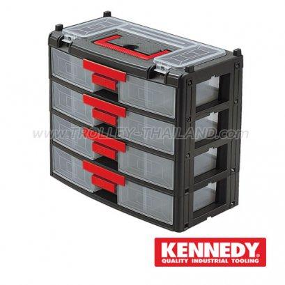 KEN-593-1760K กล่องเครื่องมือพลาสติกมีลิ้นชัก กล่องเก็บอะไหล่ SERVICES CASES