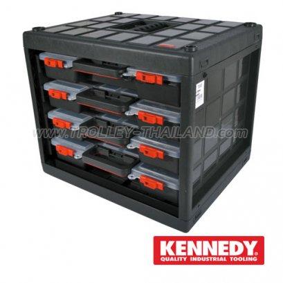 KEN-593-2380K กล่องเครื่องมือพลาสติกมีลิ้นชัก กล่องเก็บอะไหล่ SERVICES CASES