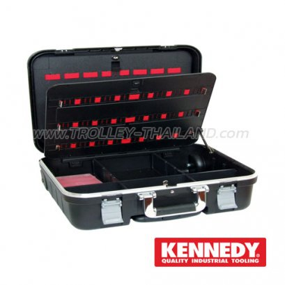 KEN-593-2520K กระเป๋าเครื่องมือทรงเจมส์บอนด์ (มีล้อลาก) Polypropylene Technical Service Tool Case