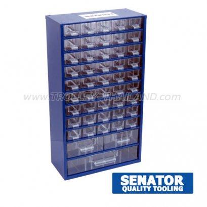 SEN-593-5320K กล่องเครื่องมือพลาสติกมีลิ้นชัก กล่องเก็บอะไหล่ (สีน้ำเงิน) SERVICES CASES