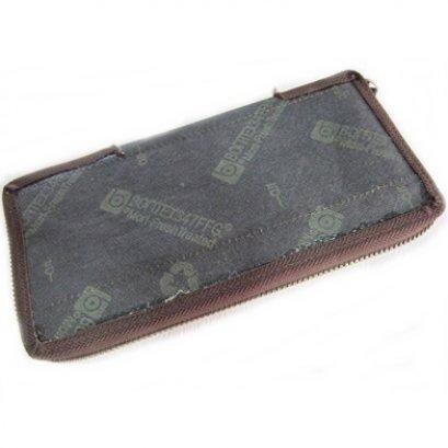 ไส้กระเป๋าสตางค์ สีน้ำตาลเข้ม ขนาด 10.5 x 20.5 ซม.