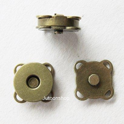 กระดุมแม่เหล็กแบบเย็บ สีทองเหลือง 14 mm.