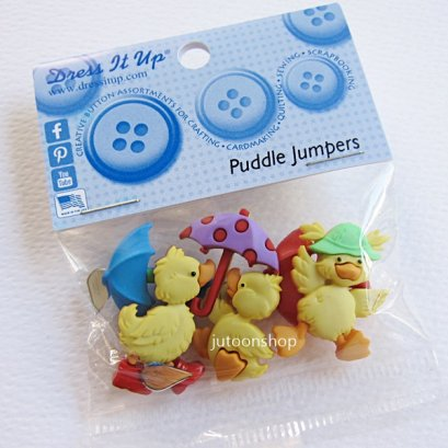 กระดุมแฟนซี Puddle Jumpers บรรจุ 6 ชิ้น