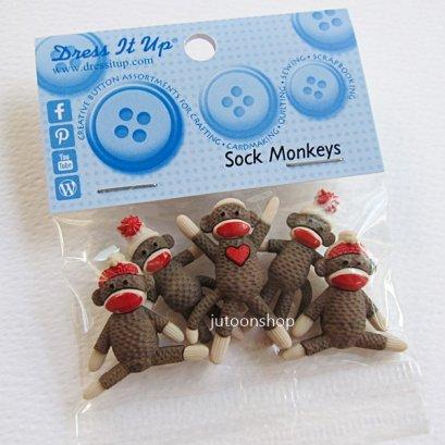 กระดุมแฟนซี Sock Monkeys
