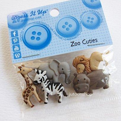 กระดุมแฟนซี Zoo Cuties