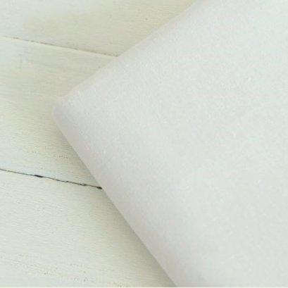 ผ้าคอตต้อนลินินสีพื้น สีขาวออฟไวท์ 1/4 เมตร (50 x 70 ซม.)