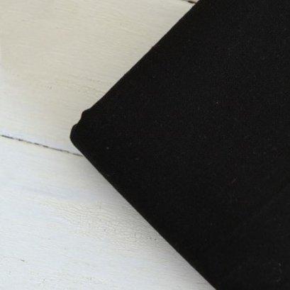 ผ้าคอตต้อนลินินสีพื้น สีดำ 1/4 เมตร (50 x 70 ซม.)