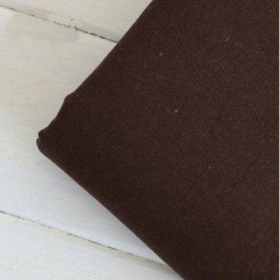 ผ้าคอตต้อนลินินสีพื้น สีน้ำตาลเข้ม 1/4 เมตร (50 x 70 ซม.)