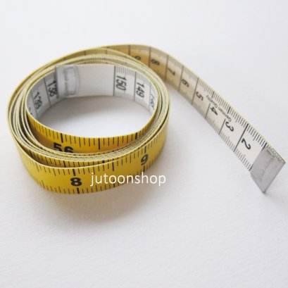 สายวัดผ้า 2 สี กว้าง 1.5 ซม. ยาว 150 ซม. (60 นิ้ว)