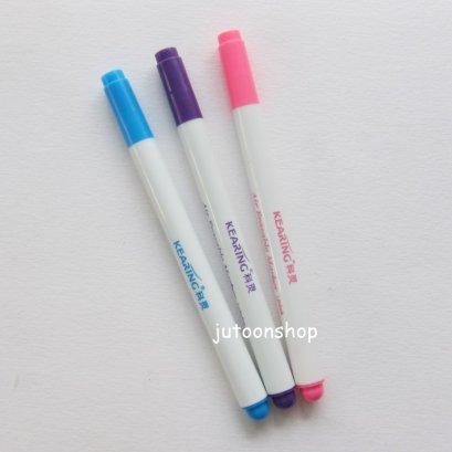 ปากกาเขียนผ้า แบบลบได้ หัว 1 มม. Kearing