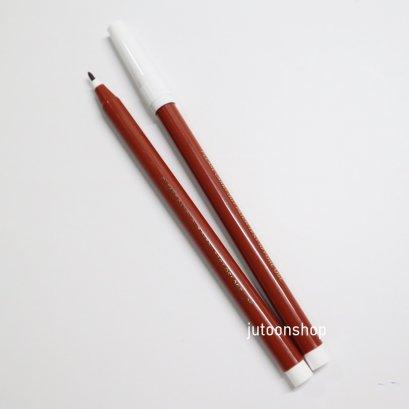 ปากกาเขียนผ้าสีน้ำตาล ลบได้ด้วยน้ำ