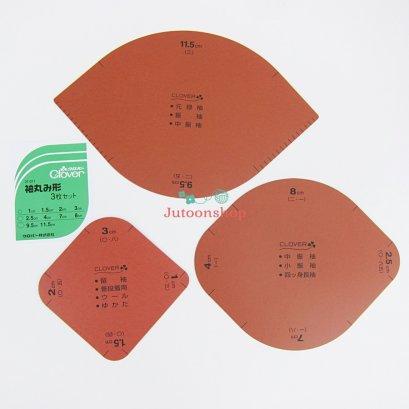 แผ่นวาดมุมโค้งของกระเป๋า 1 Set มี 3 ชิ้น Clover