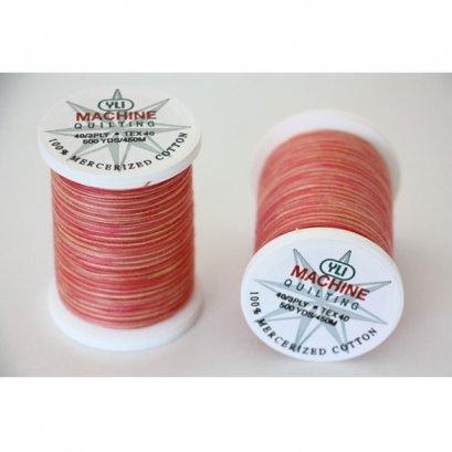 ด้ายควิลท์ สีเหลือบ YLI (USA) ยาว 500 หลา (สีชมพู)