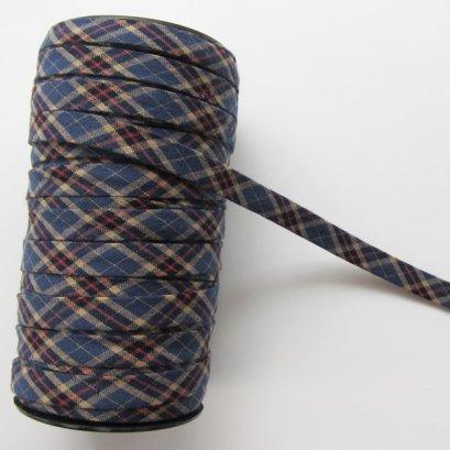 ผ้ากุ๊นสำเร็จรูป กว้าง 1 ซม. ยาว 90 ซม. (สีน้ำเงิน)
