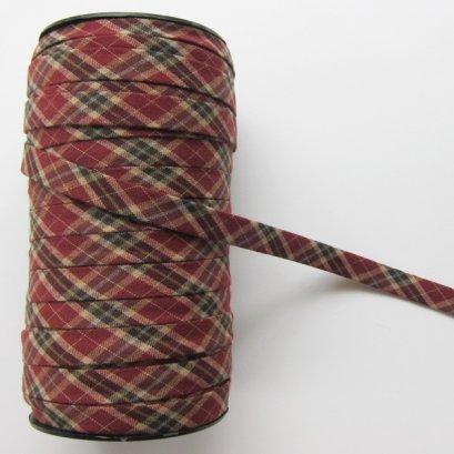 ผ้ากุ๊นสำเร็จรูป กว้าง 1 ซม. ยาว 90 ซม. (สีแดง)