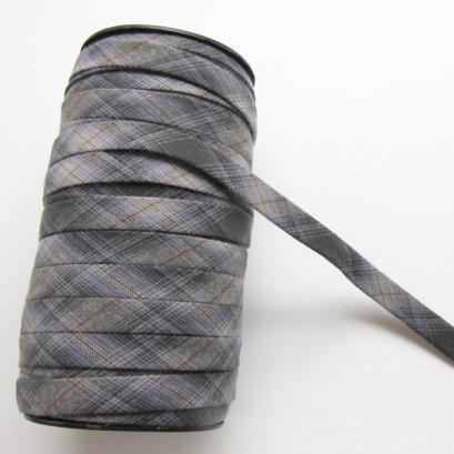 ผ้ากุ๊นสำเร็จรูป กว้าง 1 ซม. ยาว 90 ซม. (สีดำ-เทา)
