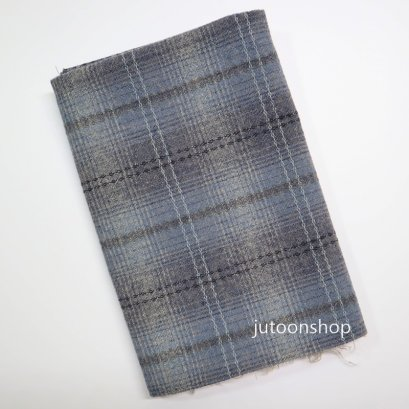 ผ้าทอสีเทา ขนาด 48 x 70 ซม.