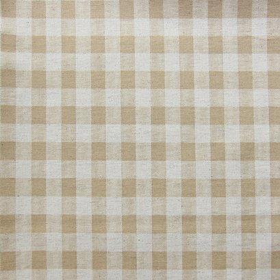 ผ้าคอตตอนลินิน ลายสก๊อต สีน้ำตาล ขนาด 1/4 หลา (45 * 55 ซม.)