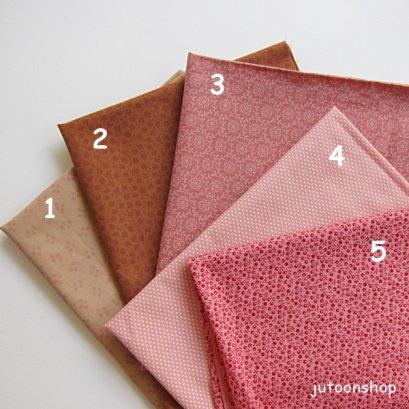 (เหลือเบอร์ 2 ) ผ้าคอตตอนญี่ปุ่น โทนชมพู ขนาด 1/4 หลา (45 * 55 ซม.)