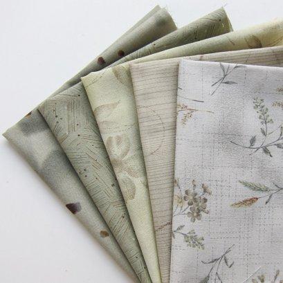 ผ้าคอตตอนญี่ปุ่นจัดเซต 5 ชิ้น ขนาด 25 x 27 ซม. (1/16 ม.)