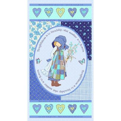 ผ้าคอตต้อนอเมริกา Holly Hobbie Blue 13 (ขนาด 60 x 110 ซม.)