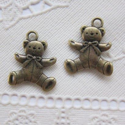 ตัวห้อยซิป รูปน้องหมี สูง 2.2 ซม. (1 ชิ้น)