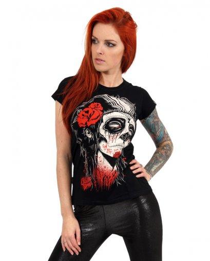 Liquor Brand DEAD GIRL Damen T-Shirts.