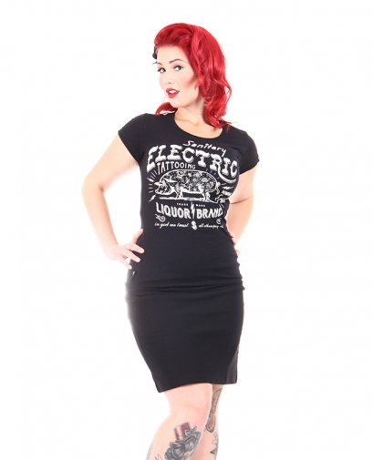 Liquor Brand ELECTRIC PIG Damen T-Shirts.