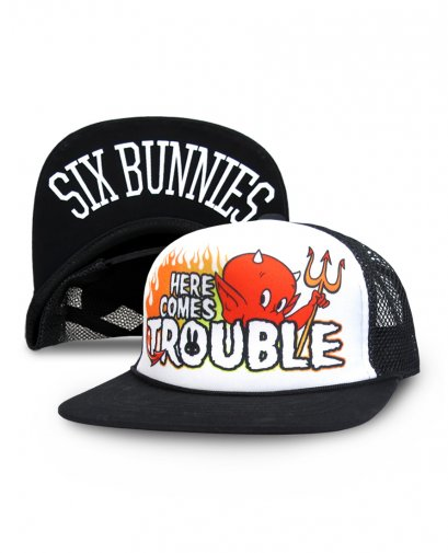 Six Bunnies BUNNIES HERE COMES TROUBLE Kids Accessories Hat.