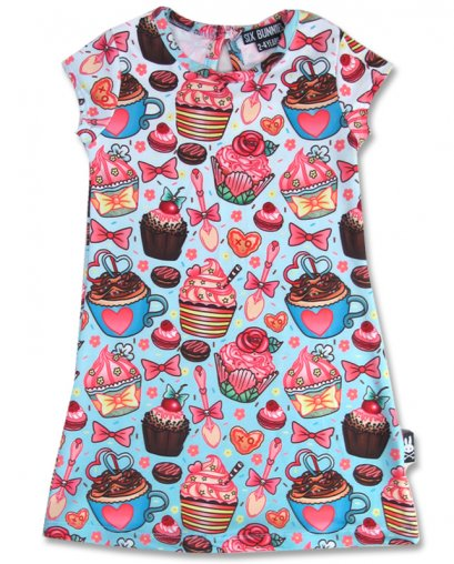 Six Bunnies CUPCAKES Kinder Kleid.