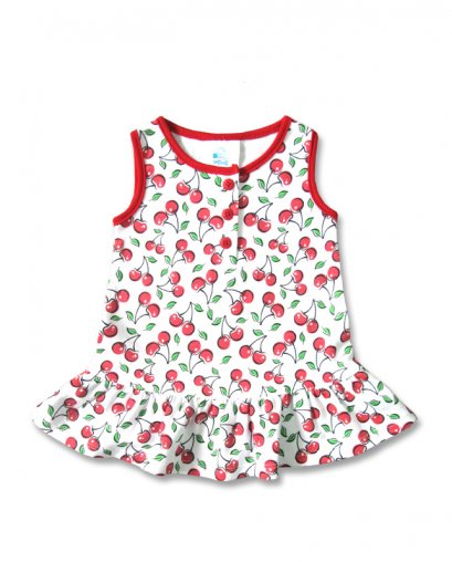 Six Bunnies CUTE CHERRIES sleeveless Baby Kleid