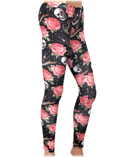 Liquor Brand ROSE TATTOO  Damen Leggings