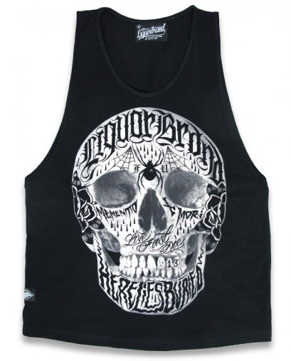 Liquor Brand LIVE FAST Men Tank Tops.
