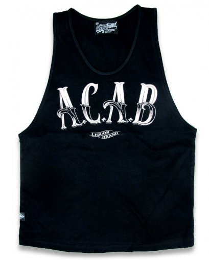 Liquor Brand A C A B Men Tank Tops.